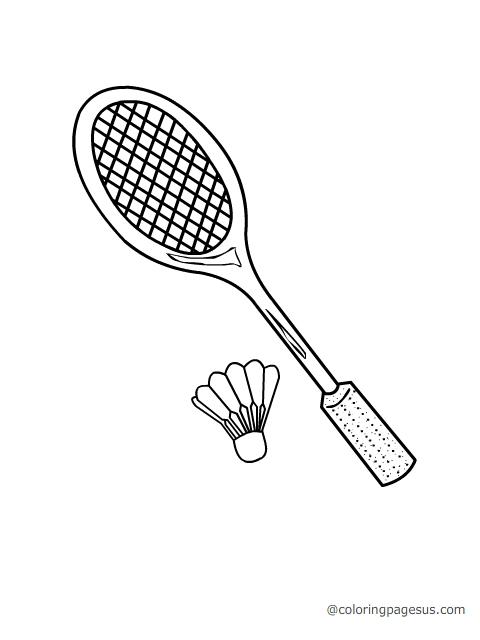Badminton Coloring Pages - Landskapisci.com