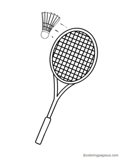 Badminton coloring pages coloring pages for Badminton coloring pages
