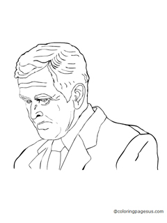 George W Bush Coloring Coloring Pages