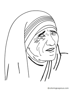 Coloring pages for Mother teresa coloring page